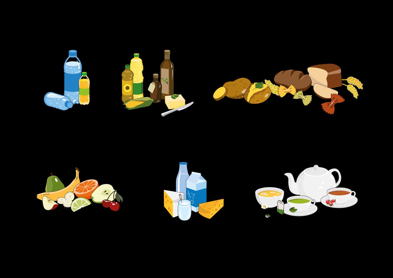 Illustration von Essen
